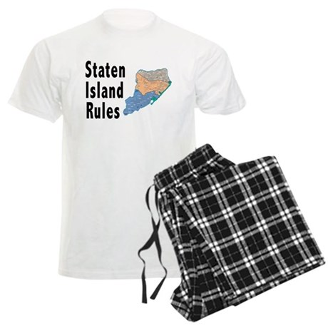 Staten Island Rules Men's Light Pajamas