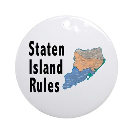 Staten Island Rules Ornament (Round)