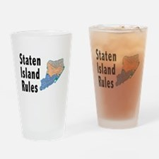 Staten Island Rules Drinking Glass