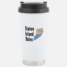 Staten Island Rules Stainless Steel Travel Mug