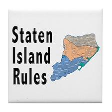 Staten Island Rules Tile Coaster