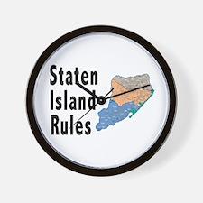 Staten Island Rules Wall Clock