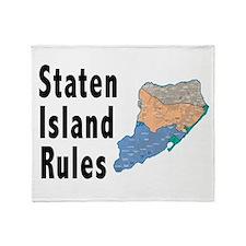 Staten Island Rules Throw Blanket