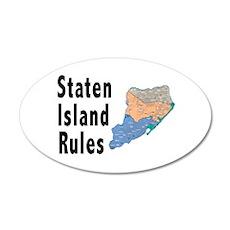 Staten Island Rules 22x14 Oval Wall Peel
