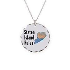 Staten Island Rules Necklace Circle Charm