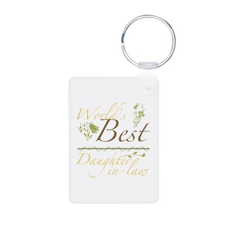 Vintage Best Daughter-In-Law Aluminum Photo Keycha