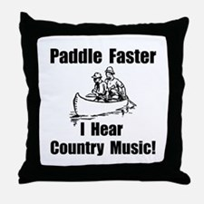 Cute Music canoeing deliverance humor Throw Pillow