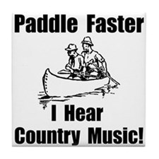 Cute Music canoeing deliverance humor Tile Coaster