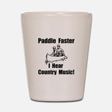 Cute Music canoeing deliverance humor Shot Glass