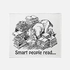 Smart People Read Throw Blanket
