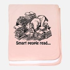 Smart People Read baby blanket