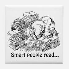Smart People Read Tile Coaster