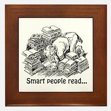 Smart People Read Framed Tile