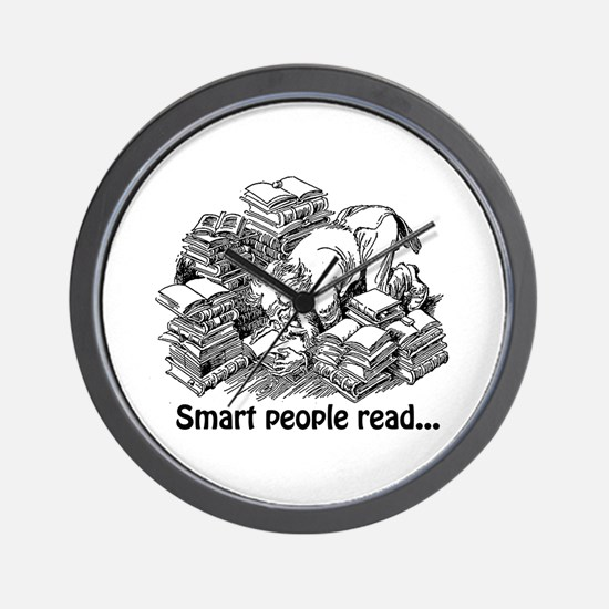Smart People Read Wall Clock