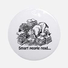 Smart People Read Ornament (Round)