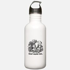 Smart People Read Sports Water Bottle