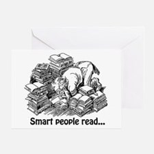 Smart People Read Greeting Card