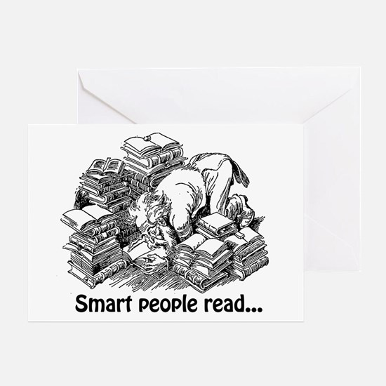 Smart People Read Greeting Card