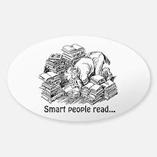 Smart People Read Sticker (Oval)