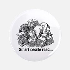 """Smart People Read 3.5"""" Button"""