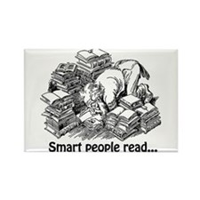 Smart People Read Rectangle Magnet