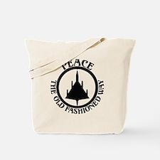 Peace via B-58 Tote Bag