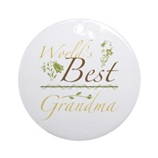 Vintage Best Grandma Ornament (Round)