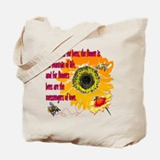 Bee Messenger of Love Canvas Groc Tote