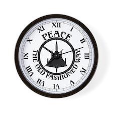 Peace via B-58 Wall Clock