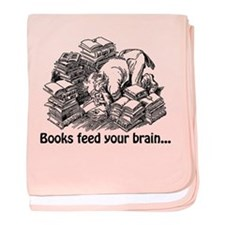 Books Feed Your Brain baby blanket