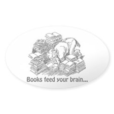 Books Feed Your Brain Decal