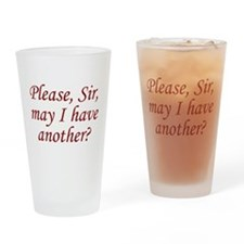 Please, Sir Drinking Glass