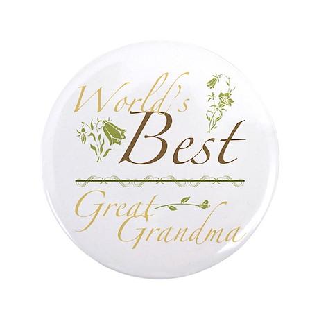 """Vintage Best Great Grandma 3.5"""" Button"""