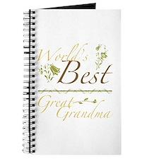 Vintage Best Great Grandma Journal