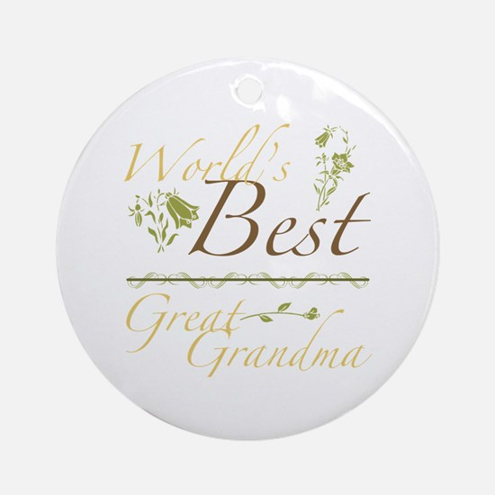 Vintage Best Great Grandma Ornament (Round)