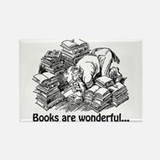 Books Are Wonderful Rectangle Magnet