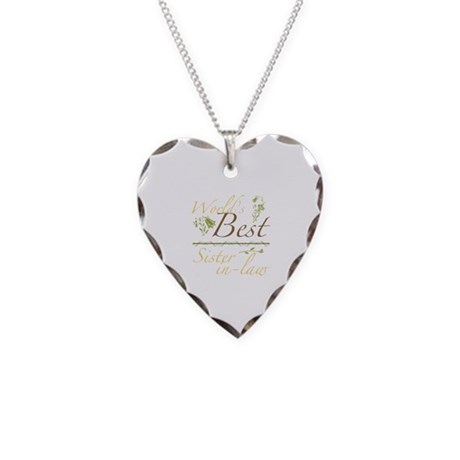 Vintage Best Sister-In-Law Necklace Heart Charm