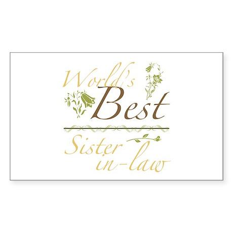 Vintage Best Sister-In-Law Sticker (Rectangle)
