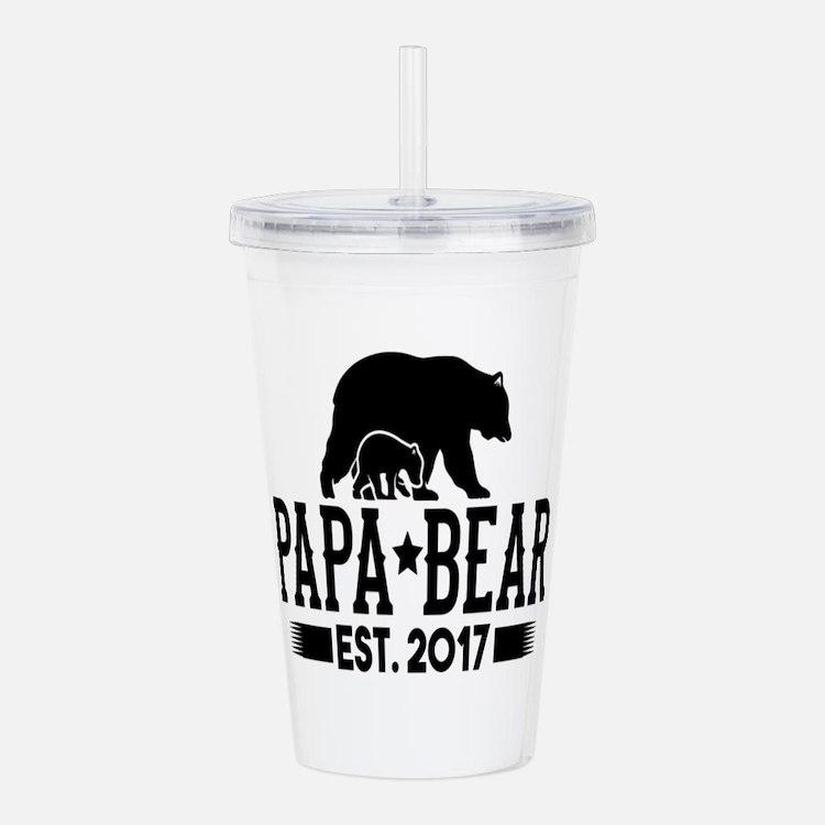 Papa Bear Est. 2017 Acrylic Double-wall Tumbler