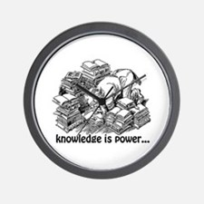 Knowledge is Power Wall Clock