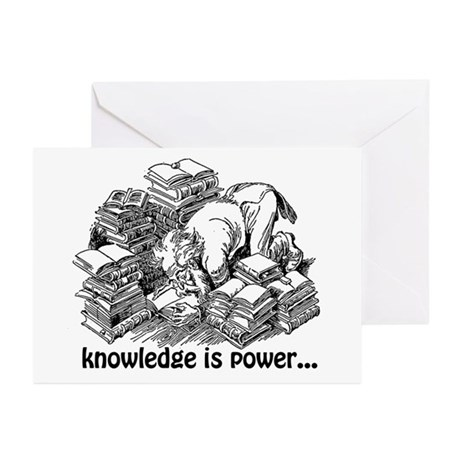 Knowledge is Power Greeting Cards (Pk of 10)