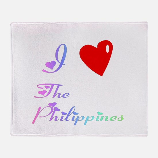 I Love The Philippines Gifts Throw Blanket