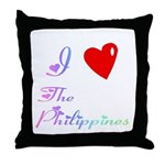 I Love The Philippines Gifts Throw Pillow