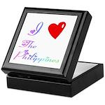 I Love The Philippines Gifts Keepsake Box