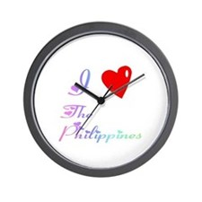I Love The Philippines Gifts Wall Clock