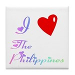 I Love The Philippines Gifts Tile Coaster