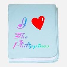 I Love The Philippines Gifts baby blanket