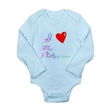 I Love The Philippines Gifts Long Sleeve Infant Bo