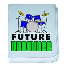 Future Drummer (Blue) baby blanket