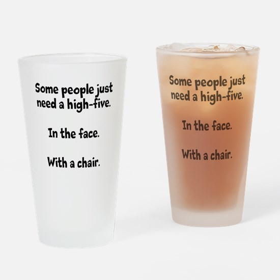 High-five chair Drinking Glass